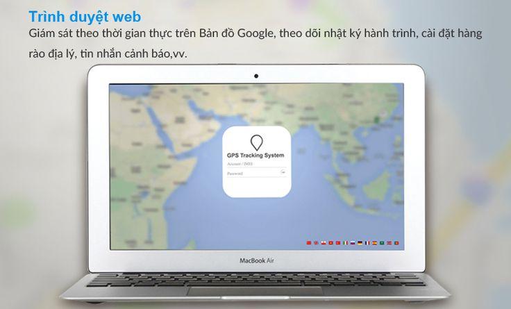 Giám sát theo thời gian thực trên bản đồ Google, theo dõi nhật ký hành trình, cài đặt tin nhắn, hàng rào địa lý