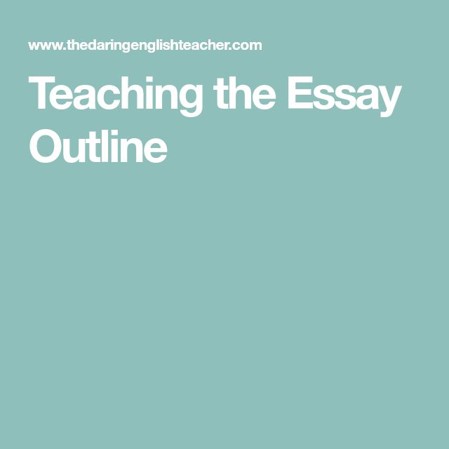 The  Best Outline Essay Ideas On   Essay Plan