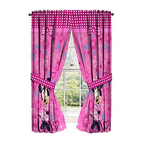 Minnie Mouse Window Panels Drapes Curtains Pink Bow Tique