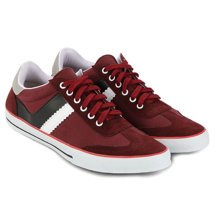Tennis Classic Sneakers by Atypical in maroon. Made of synthetic leather…