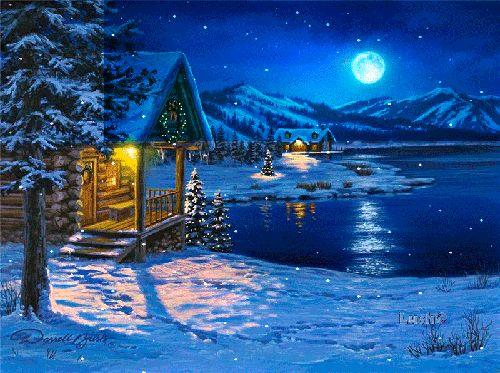 Красивая открытка Зима. Зима картинки скачать бесплатно анимационные блестящие картинки и открытки для поздравления