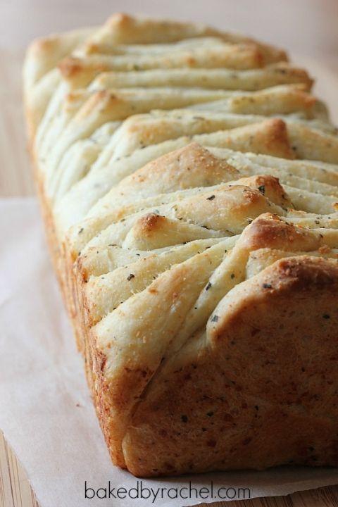 Garlic and Herb Pull Apart Bread Recipe from bakedbyrachel.com