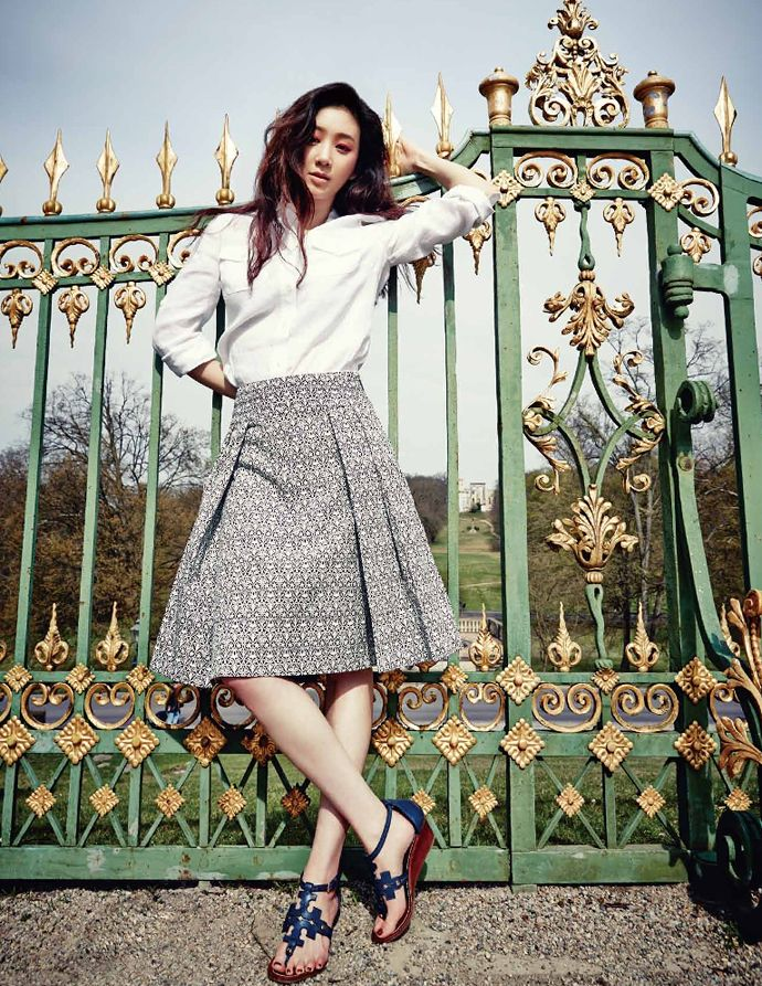 Jung Ryeo Won Is European Chic For Cosmopolitan Korea's May 2014 Edition
