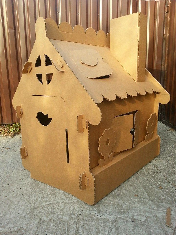 Cardboard house from Moms Manufacture https://www.facebook.com/mamanufactura