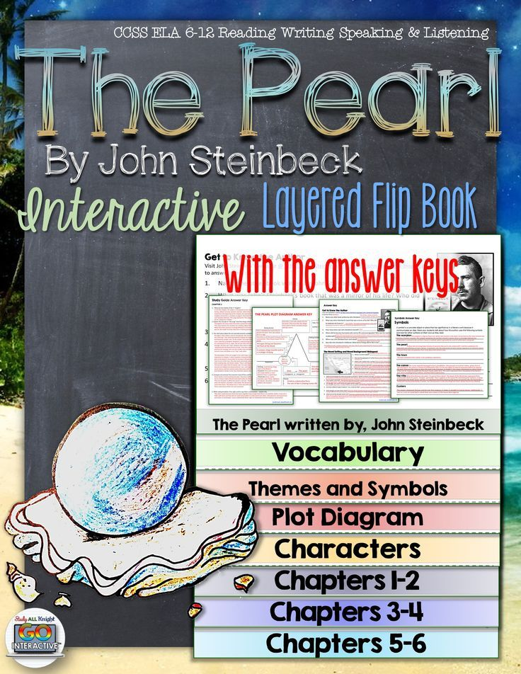The Pearl by John Steinbeck: Interactive Layered Flip Book ($)