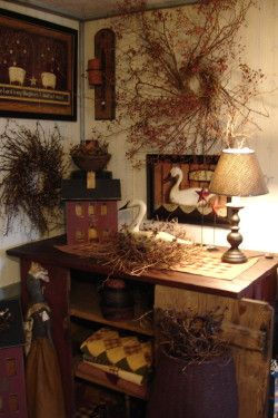 The Country Farmhouse - Primitive Country Crafts.