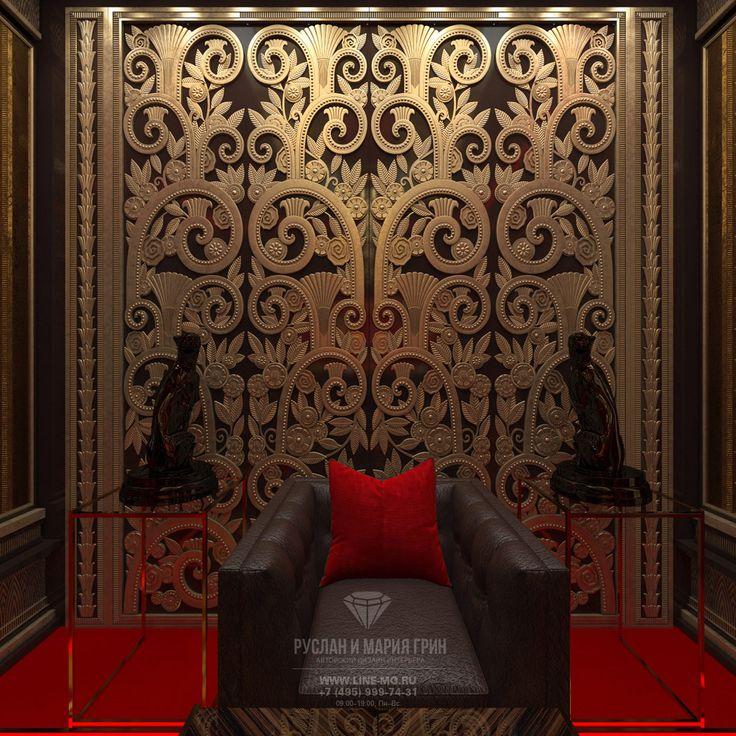 Дизайн-проект интерьера VIP казино в стиле ар-деко