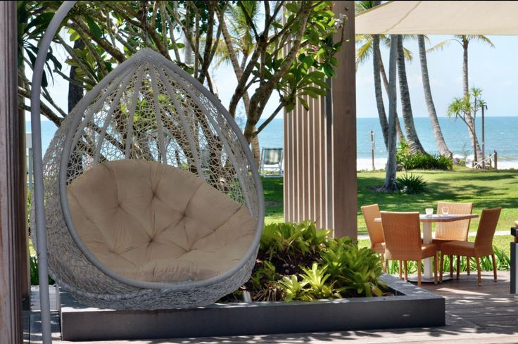 How's this for tranquility? Castaway Resort in Mission Beach.