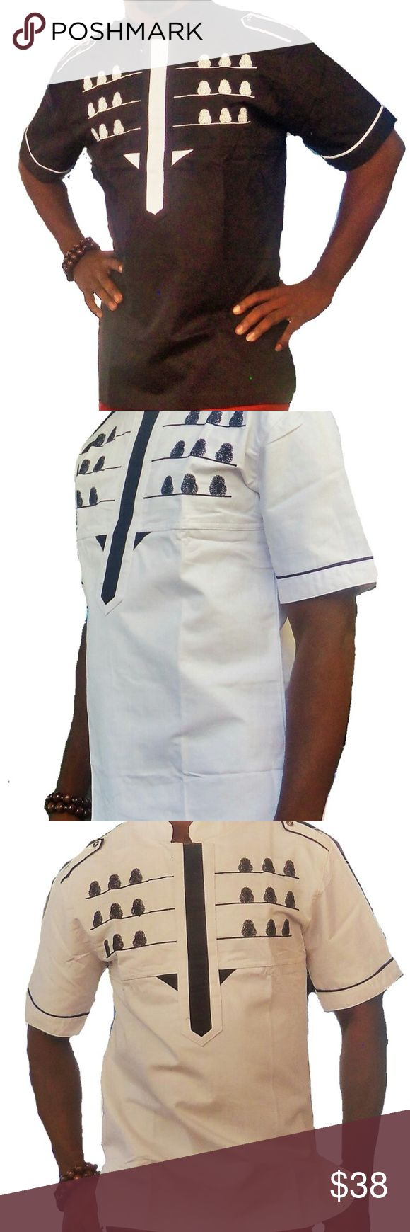 African Mens Clothing This is a classic Men's short Sleeve African Traditional clothing finely and neatly sewn and it's made with high quality fabric. It has a perfect finish and it is ideal for any special occasion be it wedding ceremony, church service, party, outdooring etc.This costume can also be a perfect gift option to a love one. African Clothing Mens Shirts Casual Button Down Shirts