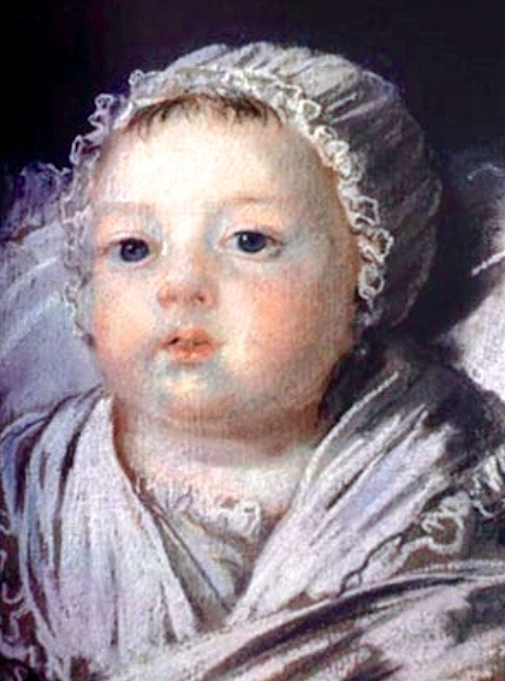 Princess Sophia Helene Beatrice of France was the fourth child and 2nd daughter of King Louis XVI and Marie Antoinette. She was such a large baby and sadly perished from convulsions on June 19, 1787 at age 11 months when she was teething.