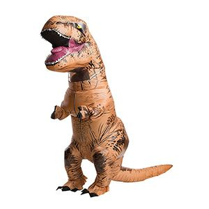 Bellow and wave your tiny arms in the air at your next Halloween or costume party with this adult-sized, inflatable T-Rex costume. Officially licensed Jurassic World; unofficially guaranteed to cause a roar.