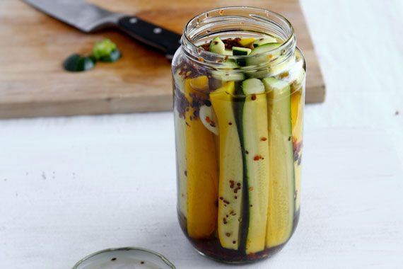 Spicy Zucchini Pickles