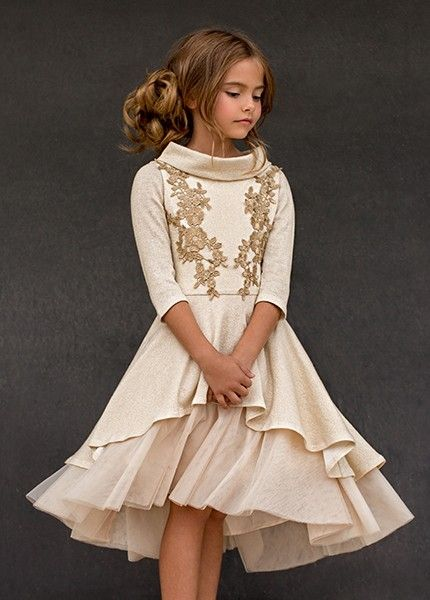 c3dd236d8f Joyfolie - Holiday Adora Dress in Gold | dress | Girls christmas ...