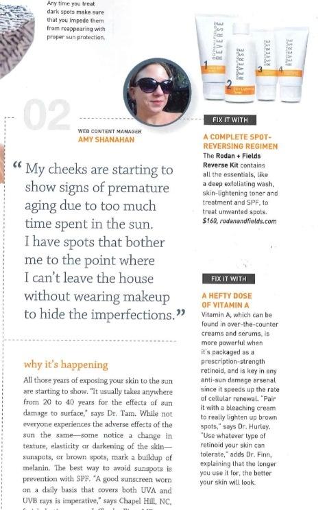 Rodan and Fields Reverse Regimen featured in New Beauty magazine. Treatment for sun damage, dark spots, and dullness lorideymaz.myrandf.com
