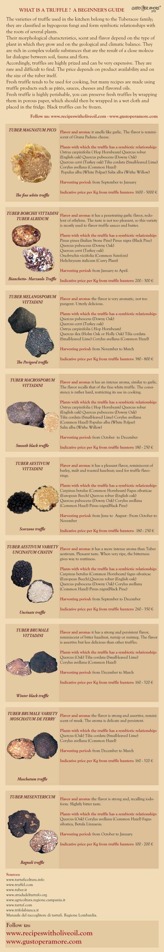 #Truffle is not very well known, so I have put together a simple guide #infographic to help you choose your favorite variety.