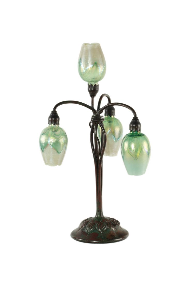 This american art nouveau table lamp is no longer available - Tiffany Studios Four Light Lily Table Lamp Date Of Manufacture 1905 An American Art Nouveau