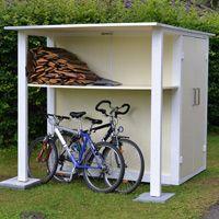 Das Gartenhaus klein für Geräte und Brennholz