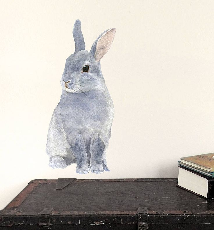 bunny wall sticker by chocovenyl | notonthehighstreet.com £12 = Gorgeous!