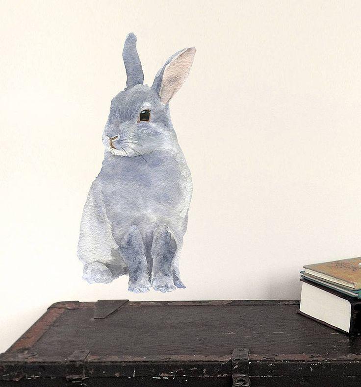 bunny wall sticker by chocovenyl | notonthehighstreet.com