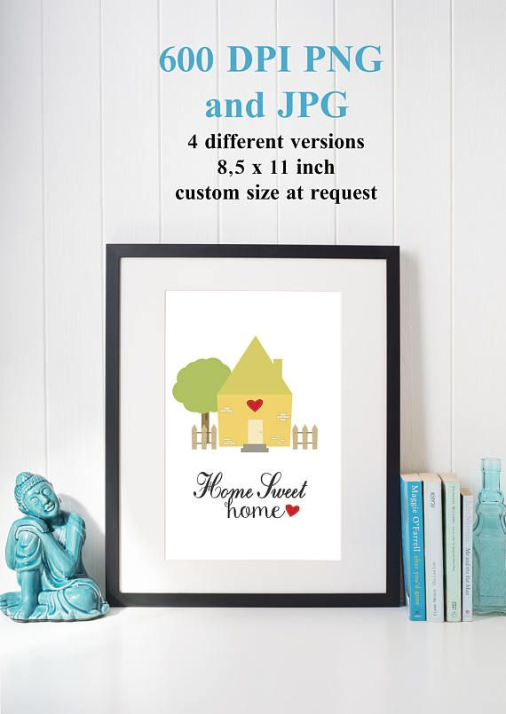 "PRINTABLE Art ""Home Sweet Home"" Typography Art Print Quote Home Decor New Home Gift Home art First Home Gift Home Love Print Housewarming"