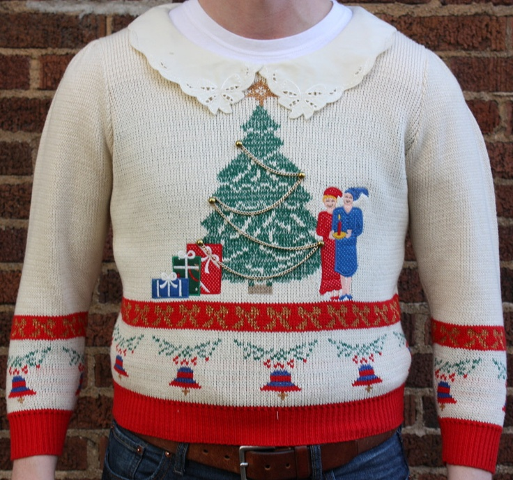 ugly christmas sweater another fantastic doily collar via etsy