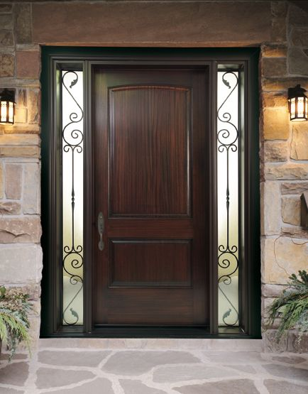 14 best front door with side lites images on pinterest for Main door ideas