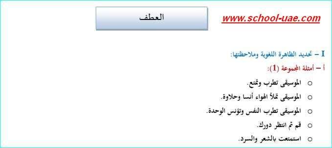 شرح درس تركيب العطف مادة اللغة العربية للصف السادس الفصل الاول Math School Math Equations
