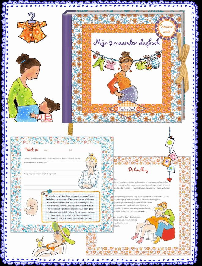 Mijn 9 maanden dagboek  € 14,95 Dit dagboek vertelt je wat je  allemaal kunt verwachten tijdens je zwangerschap.