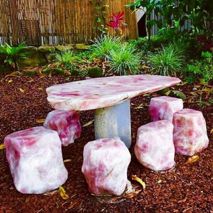 Tea Time with Faerie #RoseQuartz Table  Geology Wonders