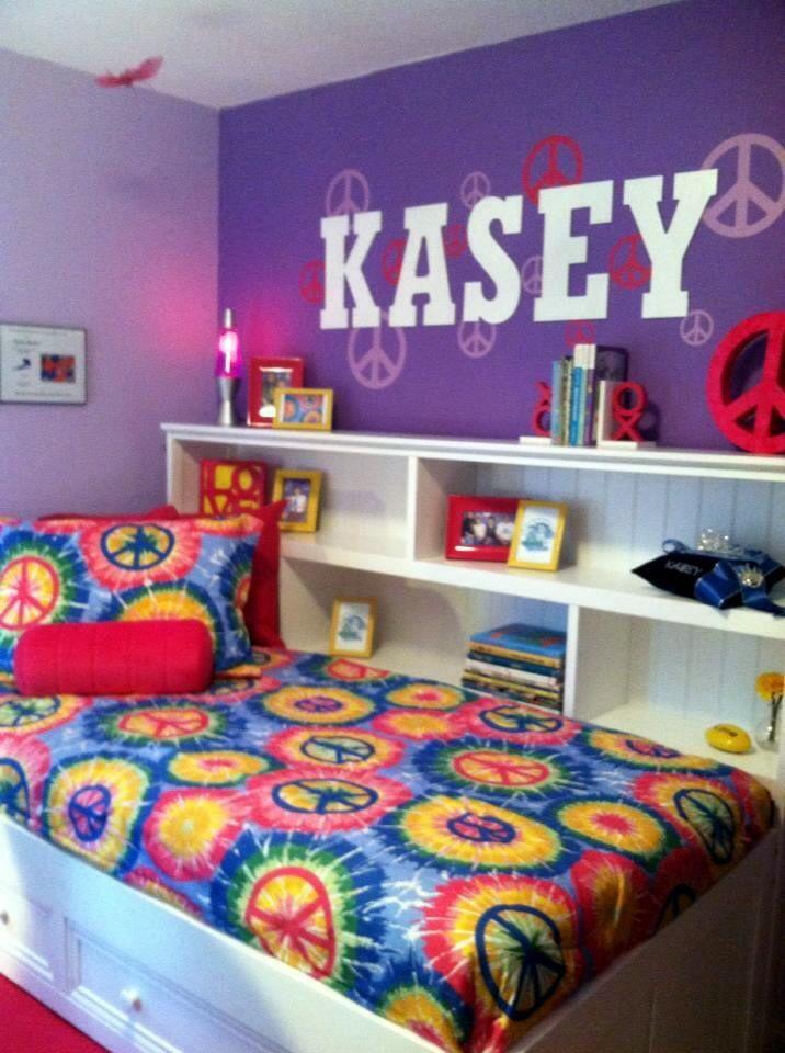 Special Spaces Minneapolis | Peace Sign U0026 Tie Dye Tween Bedroom
