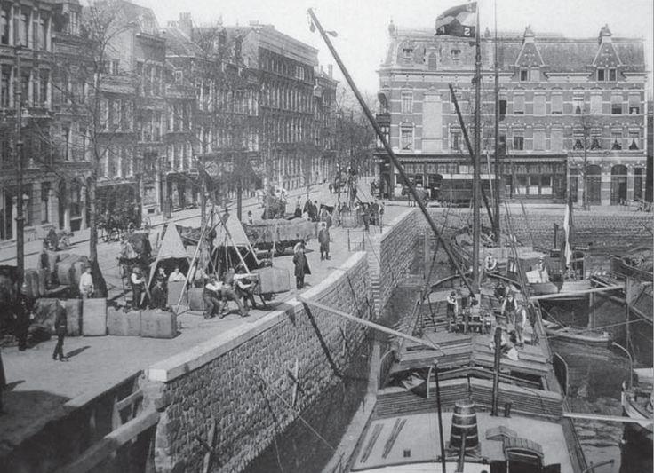 Kade Zalmhaven Scheepstimmermanslaan Rotterdam, 1880