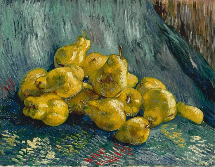 Van Gogh, Still Life with Quince Pears, Winter 1887-88. Oil on canvas, 46 x 59.5 cm.