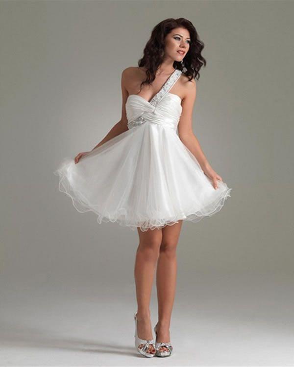 Cheap short white party dresses