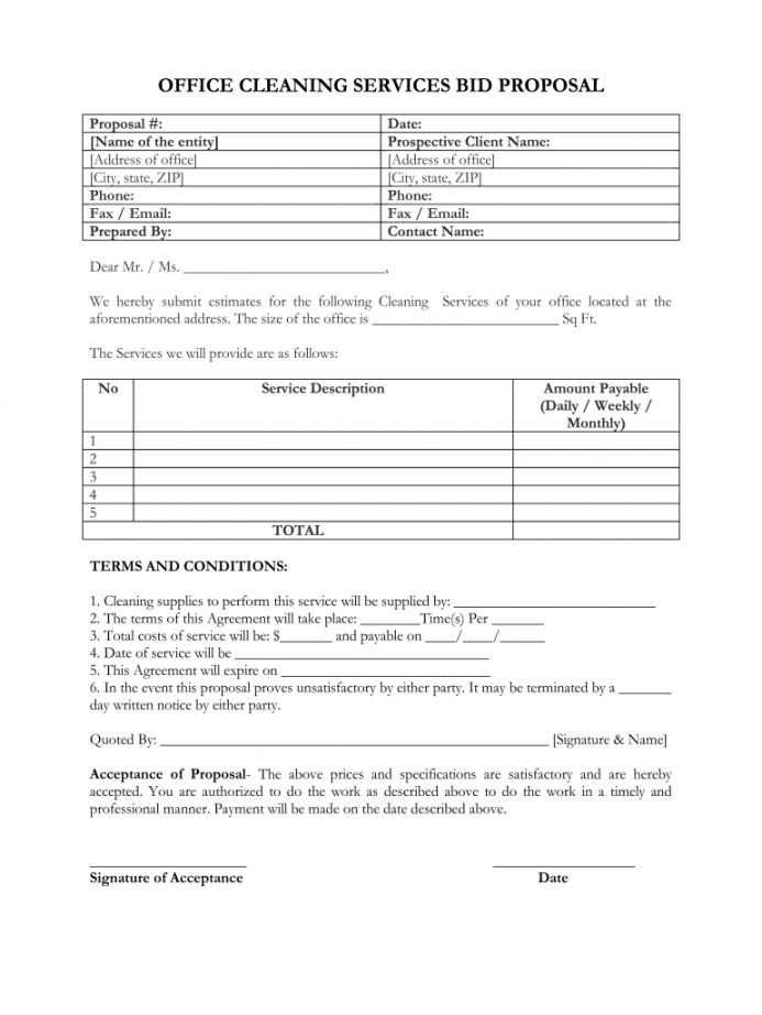 Cleaning Service Business Proposal Template Business Proposal Template Proposal Templates Business Proposal