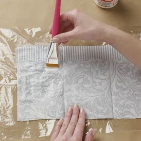 As you can imagine, we've decoupaged just about everything around here! But we're so excited about today's post - we're sharing how to use the humble napkin in your next decoupage project.