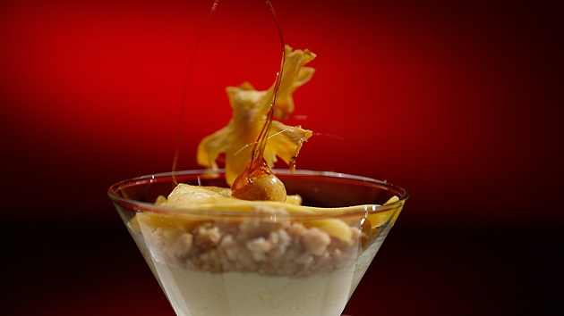 MKR4 Recipe - Mango Mousse With Toffee-Dipped Macadamias