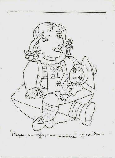 Pintores famosos: Pablo Picasso para niños. Cuadros para colorear. Caricaturas y fotos de Picasso. Vídeo-cuentos, Puzzles...