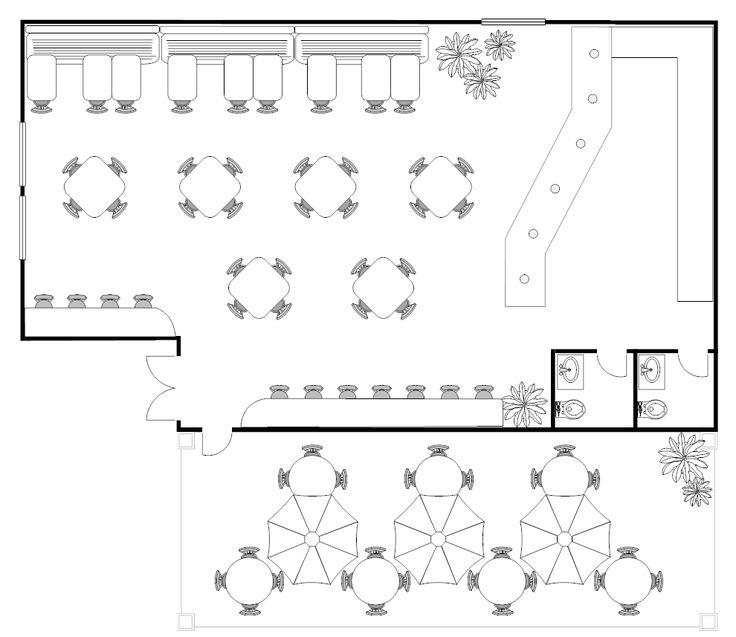 18 best building plans cafe and restaurant plans images for Floor plan creator windows 7