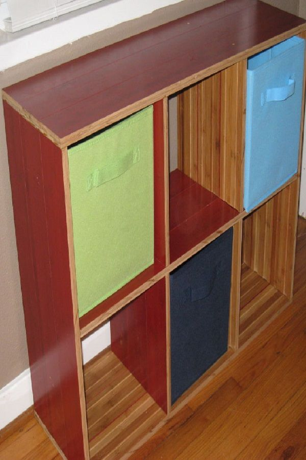 Awesome Leftover Laminate Flooring Diy Bookshelf Project From