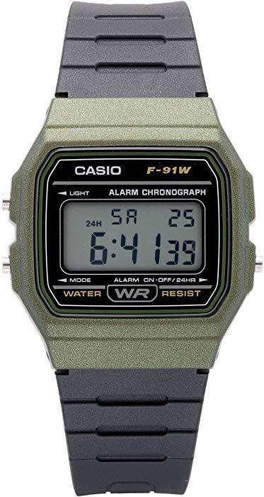 0628ce6c4 Amazon.com: Casio Men's 'Classic' Quartz Plastic and Resin Casual Watch,  Color:Black (Model: F-91WM-3ACF): Watches