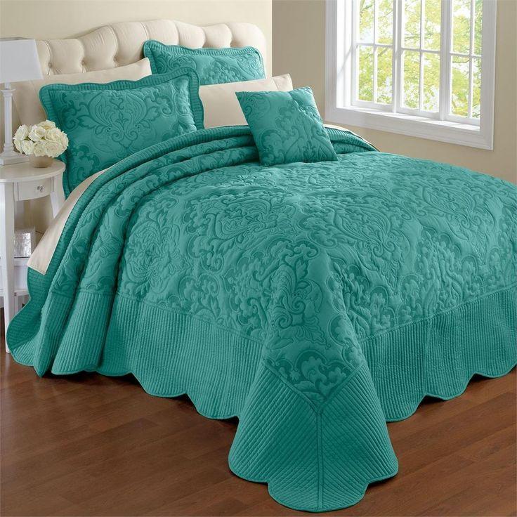 Amazon.com - Brylanehome Amelia Bedspread (Turquoise, King) -