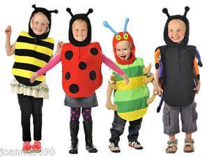 BOYS GIRLS KIDS CHILDRENS BEE BUG TABARD FANCY DRESS COSTUME BOOK DAY WEEK 3 - 5 | eBay