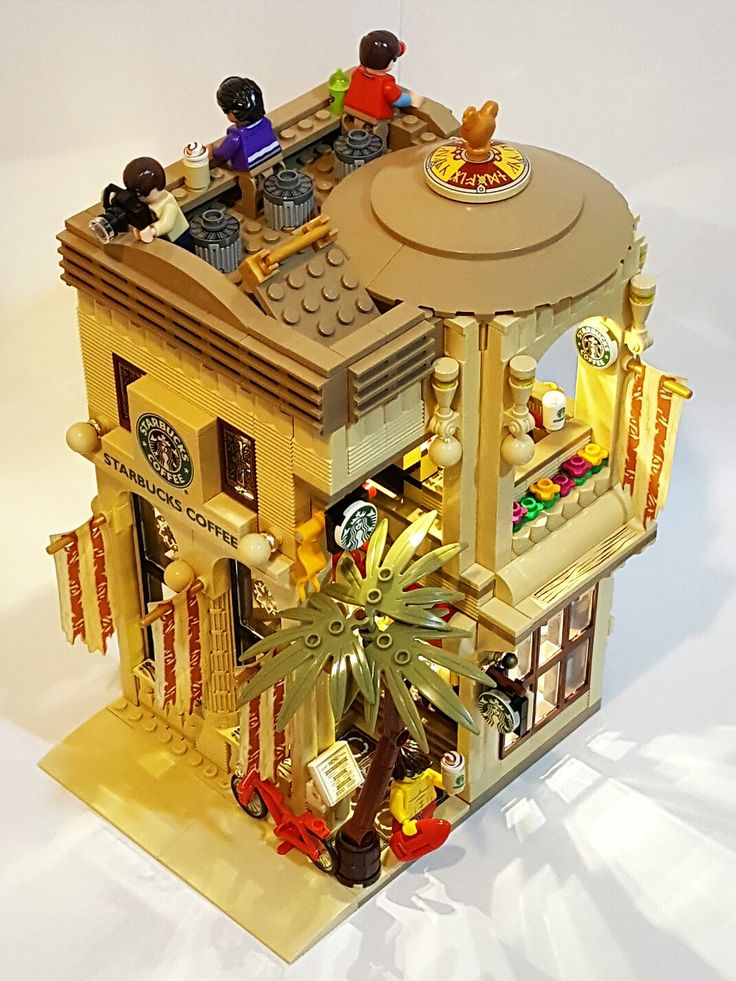 """LEGO Starbucks Mediterranean Cafe (16x16) """"The beauty of the Mediterranean style, from coast to a cup of coffee"""""""