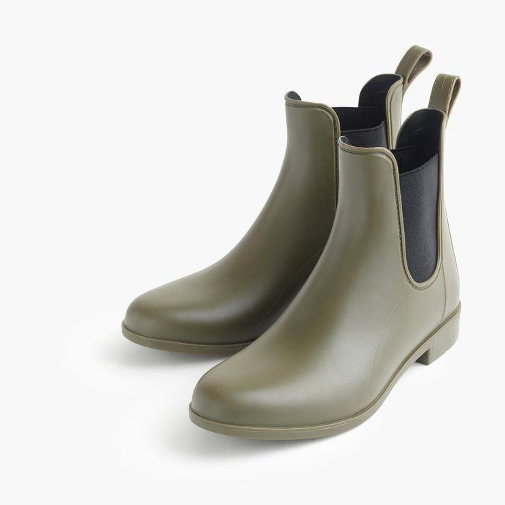 Matte Chelsea Rain Boots, $68; jcrew.com   - ELLE.com