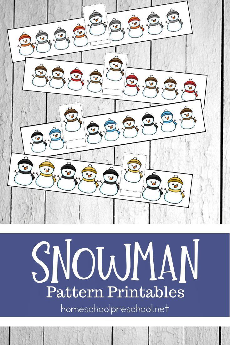 Free Snowman Pattern Printables For Preschoolers Snowmen Patterns Sneezy The Snowman Winter Activities For Kids [ 1102 x 735 Pixel ]