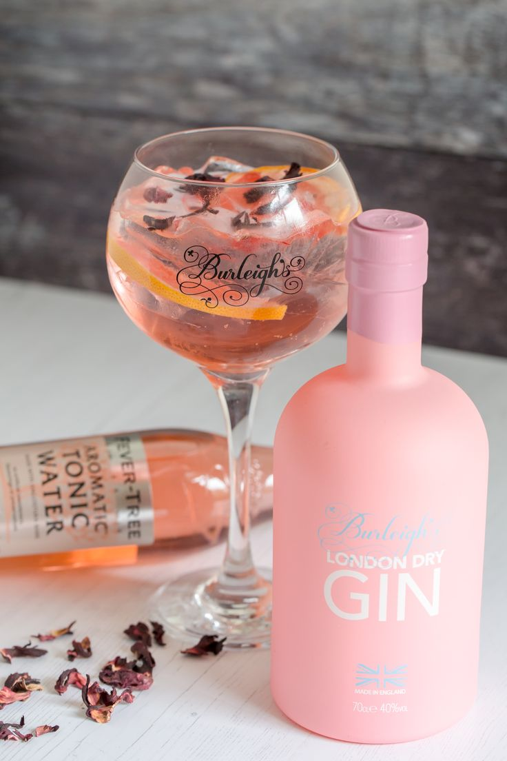 Burleighs London Dry Gin PINK EDITION & Fever-Tree Aromatic Tonic Water - Combining Burleighs PINK with Fever-Tree Aromatic tonic water adds great depth in flavour as well as the beautiful pink colour, and what better way to garnish than with a fresh slice of pink grapefruit to deliver a sweet citrus freshness!