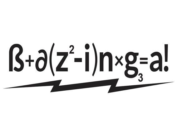 Bazinga formula big bang theory vinyl decal via etsy