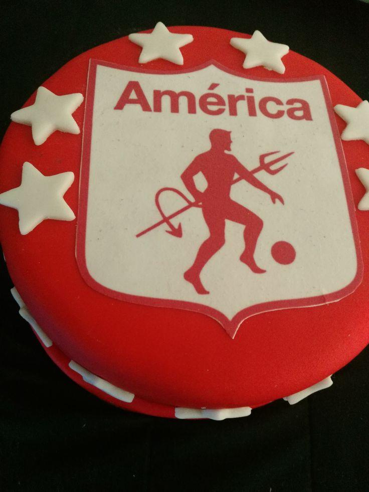 Torta personalizada America de Cali, por Mia Reposteria cali. 3165227484