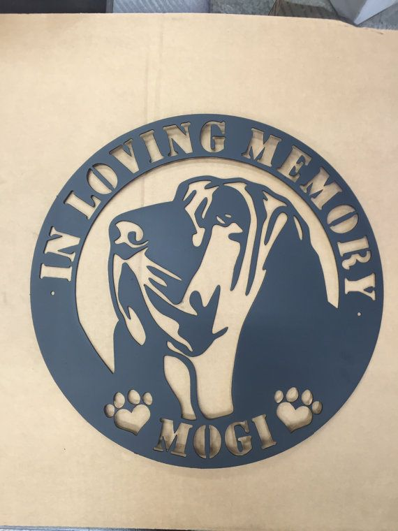 chien memorial signe limier personnalisable pour par SCHROCKMETALFX