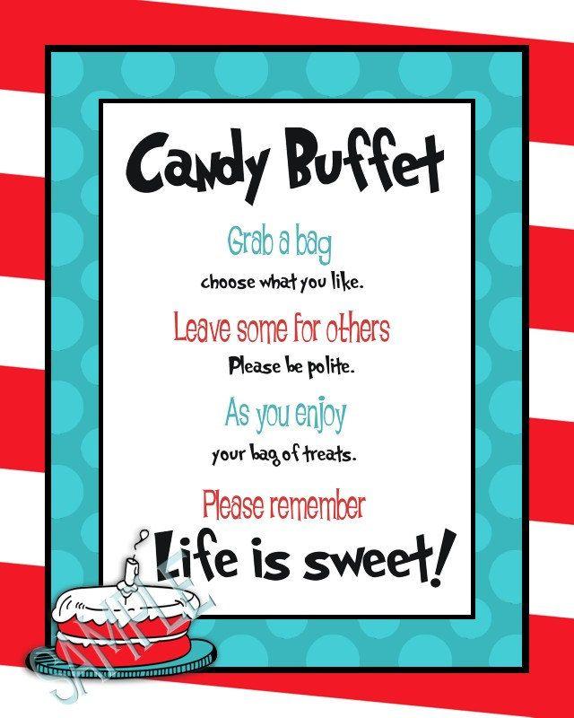 25 Best Ideas About Candy Buffet Signs On Pinterest